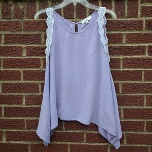 Lacey Lilac Blouse   Umgee